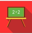 Chalkboard with simple mathematical equation icon vector image