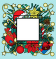 christmas colorful frame vector image