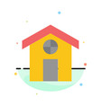 city construction house abstract flat color icon vector image