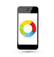 colorful arrows in circle on phone screen vector image vector image