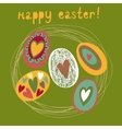 Colorful Easter card vector image vector image