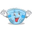 crazy baby diaper character cartoon vector image vector image