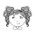Cute girl background Hand drawn vector image vector image
