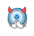 devil webpack coin mascot cartoon vector image vector image