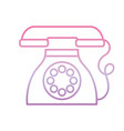 dial operated telephone phone gradient icon vector image vector image