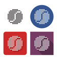 dotted icon tennis ball in four variants vector image vector image