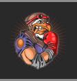 eagle head boxing sport vector image vector image