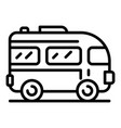 excursion bus icon outline style vector image vector image