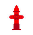 fire hydrant isolated red fireplug vector image vector image