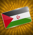 Flag of Western Sahara with old texture vector image