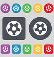 Football soccerball icon sign A set of 12 colored vector image vector image