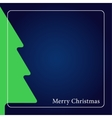 greeting card - Christmas green tree with text vector image vector image