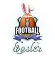 happy easter football ball in form a egg vector image vector image