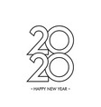 happy new year 2020 text design vector image vector image