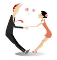 heterosexual lovers hold hands vector image vector image