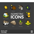 Isometric outline icons set 21 vector image vector image