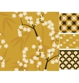 Japanese seamless patterns set with bamboo vector image vector image