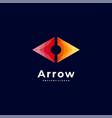 logo arrow gradient colorful style vector image vector image