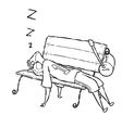 man sleep on chair vector image vector image