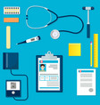 medical equipment or tools set vector image vector image