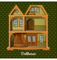 modern three-storey dolls house vector image vector image