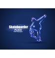 Motion design Skateboarder jump on skateboard vector image vector image