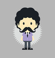 mustache young man vector image
