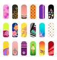 Nail stickers vector image