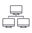 network monitor line icon sign vector image vector image