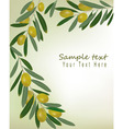 olive background vector image