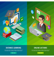 Online Learning Vertical Banners Set vector image vector image