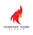 parrot logo vector image