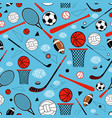 pattern sporting goods vector image vector image