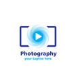 photography business logo vector image vector image