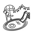 pool party icon doodle hand drawn or outline icon vector image
