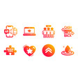 quick tips cashback card and swipe up icons set vector image vector image