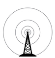 radio tower vector image vector image