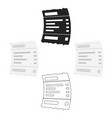 receipt icon in cartoonblack style isolated on vector image vector image