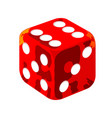 red casino dice vector image