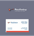 route logo design with business card template vector image