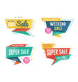 sale banner design set vector image vector image