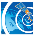 satellite telecommunications vector image vector image