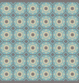 seamless geometric pattern in blue and brown vector image vector image