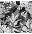 seamless pattern with foliage branches and leaves vector image vector image