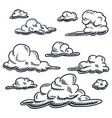 set drawing cloud isolated on a white vector image