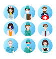 set of medical icons depicting different vector image vector image