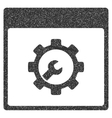Setup Tools Calendar Page Grainy Texture Icon vector image