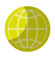 sticker global symbol to earth planet vector image