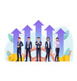 successful business team standing together vector image vector image