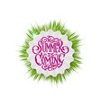 summer decorative template for holiday design vector image